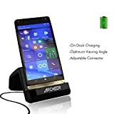 USB C Charging Dock, Archeer USB Type C Charger Cradle Desktop Charging Dock Station USB C Cradle Charger Adapter with Double Side Micro USB Cable for LG G5, HTC ONE A9, HP Elite X3, Nexus5X, Nexus 6P, Microsoft Lumia 950XL