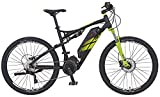 "Rex E-Bike Alu-Full Suspension MTB 650B 27,5"" Graveler 7.9, Schwarz Matt, 27.5"", 51667-0111"