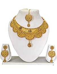 Vipin Store Golden Color Stone And Kundan Gold Plated Jewelery Set - B078Y2G5PY