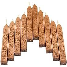 10 Piezas Totem Fire Manuscript Sellado de Cera de Sellado Para el Sello de Correos Sello