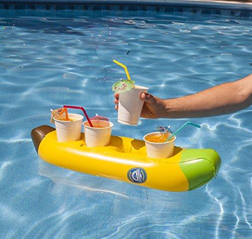 Bigmouth inc. galleggiante della bevanda della barca di banana gonfiabile
