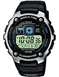 Casio Collection – Herren-Armbanduhr mit Digital-Display und Resin-Armband – AE-2000W-1AVEF