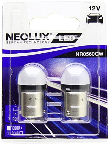 OSRAM NR0560CW-02B Neolux LED Retrofit 6000K-BA15S (R5W) -12V/0.8W-Set de 2 pièces, Blanc