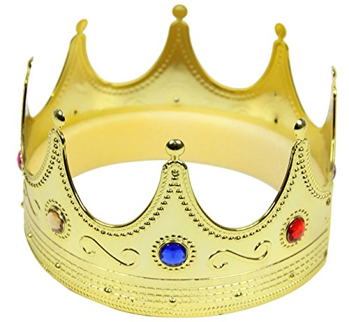 (Foxxeo 35081 | goldene Königskrone mit Edelsteinen Mittelalter)