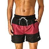 JINSHI Herren Badeshorts Sport-Shorts Schnell Trocknend Sweatshorts Casual Sommer Beach Shorts Größe S