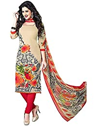 Ladies Suit Party Wear Latest Design Unstitched Desi Hault Suit For Womens Party Wear Printed French Crepe Dress...
