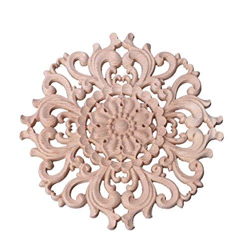GROOMY Classico Legno Intagliato Angolo onlay Applique Cornice Decorazione mobili Non dipinte Decorazioni per la casa