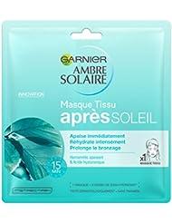 Garnier Ambre Solaire Masque Tissu Après-Soleil Ultra Hydratant/Régénérant - Lot de 2