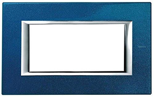 Price comparison product image BTICINO HA4804BM - AXOLUTE - PLACCA 4P BLU MEISSEN