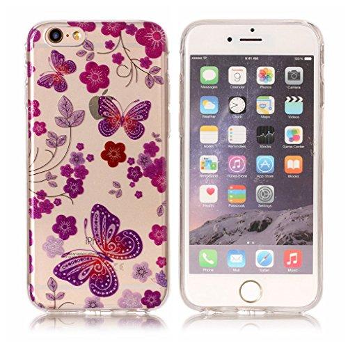 "Apple iPhone 6 Plus / 6S Plus 5.5"" Hülle, SATURCASE Schönes Muster Bling Ultra Dünn Weich TPU Gel Silikon Schützend Zurück Case Cover Handy Tasche Schutzhülle Handyhülle Hülle für Apple iPhone 6 Plus  Muster-4"