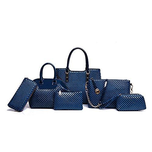 Mefly Il lusso di fascia alta borsette Identificazione di sei pezzi di moda autunno All-Match Invia Zero Wallet kaki blue