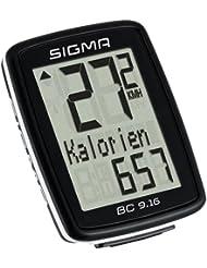 Sigma Sport Fahrradcomputer BC 9.16, Schwarz, One size, 9160