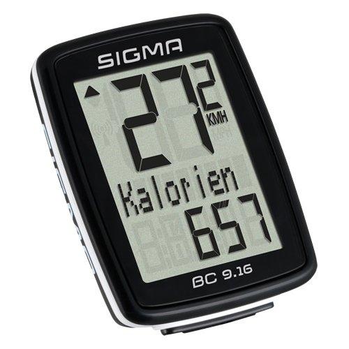 Sigma Sport Fahrrad Computer BC 9.16, 9 Funktionen, Maximalgeschwindigkeit, Kabelgebundener Fahrradtacho, Schwarz (Deals Amazon)