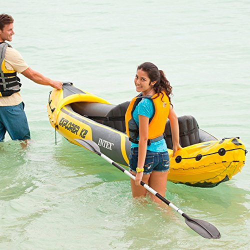 51nHKatoJfL. SS500  - Intex Explorer K2 Kayak, 2-Person Inflatable Kayak Set with Aluminum Oars and High Output Air Pump