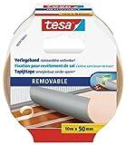 tesa doppelseitiges Verlegeband, rückstandsfrei entfernbar, 10m x 50mm