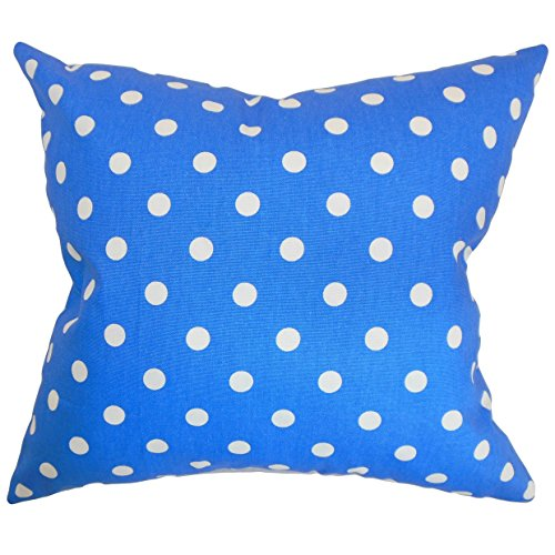 La Almohada Collection Nancy Lunares Funda de cojín, Azul