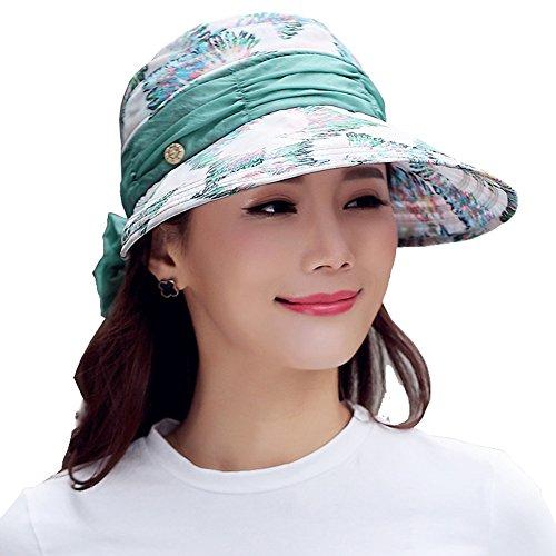 Yimidear® Summer Pliable Chapeau de Soleil Chapeau Femme Casquette de Baseball des Femmes Contre Chapeau UV green