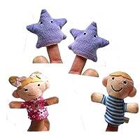 Juguetes de Peluche 4 Piezas Twinkle Twinkle Little Star Finger Puppet para  niños aprenden Story Toy e457b3e0ec0