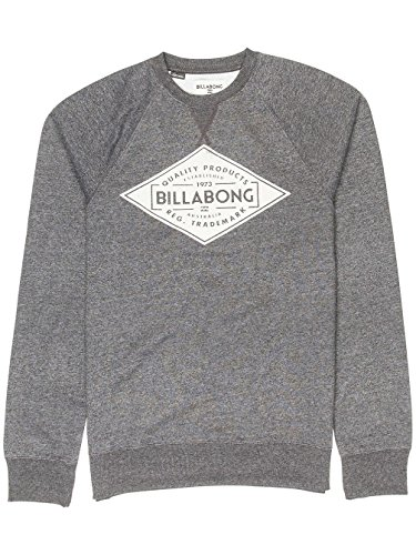 Billabong Herren Bogus Crew Sweatshirt, Blau dark grey heath