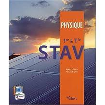 Physique 1re & Tle STAV - Nouveau programme