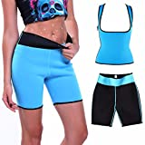 Damen Abnehmen Sauna-anzüge Korsett Shaper Schwitz-BH formende Capri Schwitz-hosen Fitnesshose Joggen Training S-XXXL