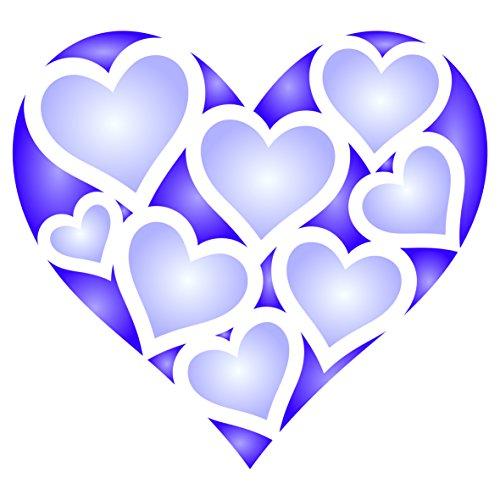 ablone, wiederverwendbar, große Valentinstag Liebe Herz Allover Muster Wand-Vorlage, auf Papier Projekte Scrapbook Tagebuch Wände Böden Stoff Möbel Glas Holz etc. m ()