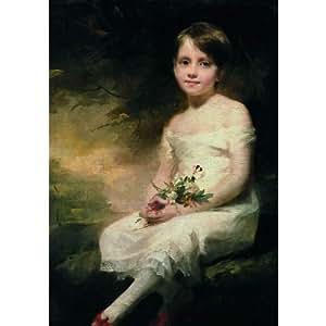 Paris - Musée du Louvre - Petite fille tenant des fleurs dit aussi Innocence. Portrait de Nancy Graham - Carte postale 10,5 x 15 cm