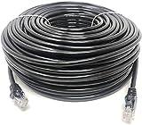 Mr. Tronic 50m Cavo di Rete Ethernet per Uso Esterno | CAT6, AWG24, CCA, UTP, RJ45 | Nero (50 Metri)