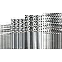 SODIAL 40 piezas Mini broca HSS bits 0.5mm-2.0mm PCB de manejar recto, brocas helicoidales conjunto