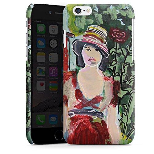 Apple iPhone 5s Housse Étui Protection Coque Femme Femme Fleurs Cas Premium brillant