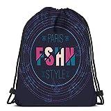 Randell Gym Drawstring Backpack Sport Bag Roller Derby Helmet Lightweight Shoulder Bags Travel College Rucksack for Women Men