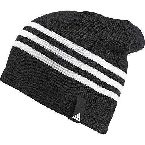 adidas Tiro 15 Mütze, Black/White, OSFL White Stripe Beanie