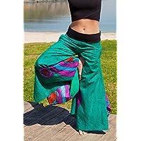 Nepal'de üretilen pamuklu YEŞİL Kelebek Pantolon I UPMOODS