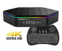 EVANPO T95Z PLUS Smart TV Box Android 6.0 Amlogic Qcta-core CPU Dual Wifi 3D 4K2K Video Decoder Mini PC TV Sets with Wireless Keyboard (BACKLIGHT)