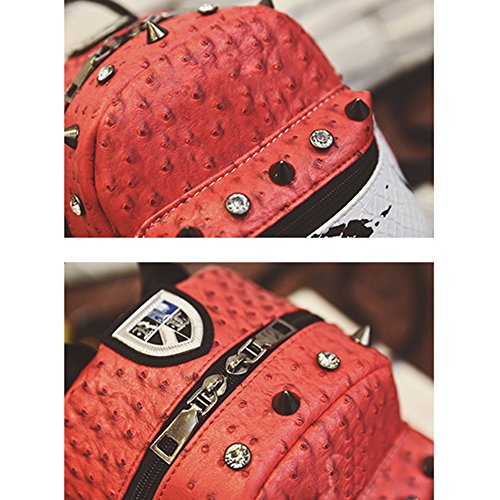 Frauen Fashion Casual Handtasche Solid Color Nieten Mädchen Umhängetasche Grey