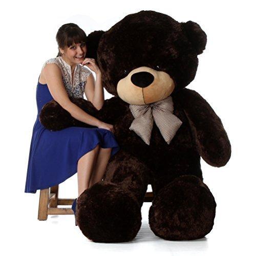 AVS 5 Feet Stuffed Spongy Huggable Cute Teddy Bear Chocolate 152 cm
