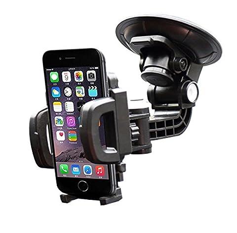 iVoler Support voiture Auto universel pour le pare-brise et le tableau de bord par la ventouse avec Rotation à 360 degrés pour iPhone 7/7 Plus/6s/6s Plus/6/6 Plus/5S/5C/5/4S, Samsung Galaxy S7/S7 Edge/S6/S6 Edge, Nexus 6P/5X, LG G5/V10, GPS, Mini tablette et les autres smartphones