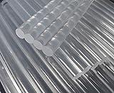 Sticks für Klebepistole, Heißkleber, hochwertig, transparent, lang, 11 mm