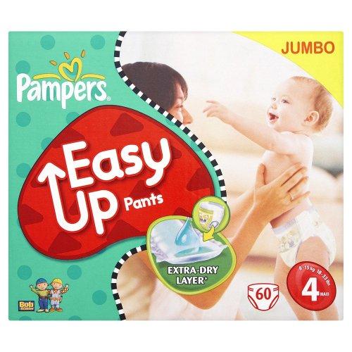 Pampers Easy up Windeln Gr.4 Maxi 8-15Kg Jumbo, 2er Pack (2 x 60 Stück)