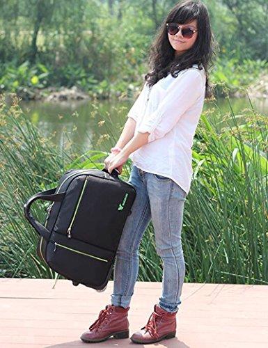 Oxford Tuch Wasserdichte Falt Trolley Taschen Handtasche Reisetasche Boarding Machine ( Farbe : 1 , größe : 26inchs ) 3