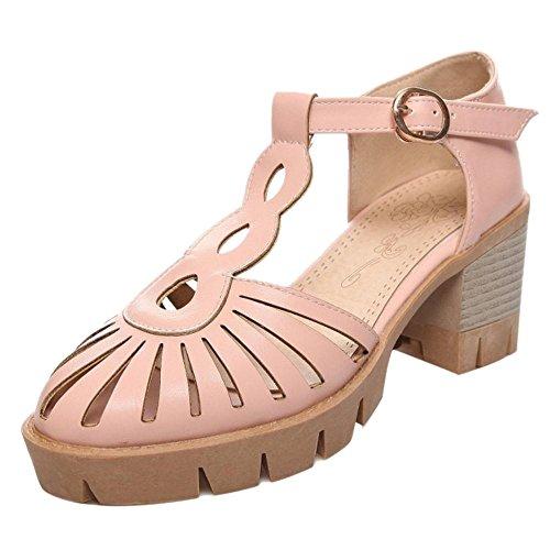 JOJONUNU Femmes Creux Ete Sandales pink