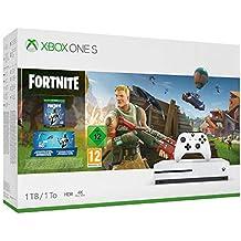 Xbox One S 1TB (weiß) - Fortnite Bundle (inkl. Fortnite: Battle Royale, EON Skin-Set und 2.000 V-Bucks)