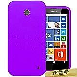 Accessory Master-Cover in Silicone per Nokia Lumia 630, colore: nero/rosa/rosso/arancione/blu/bianco/giallo/viola/verde