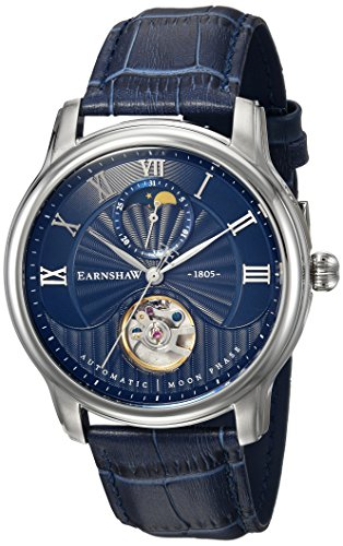 Thomas Earnshaw Mixte Adulte Phase de Lune Automatique Montre avec Bracelet en Cuir ES-8066-02
