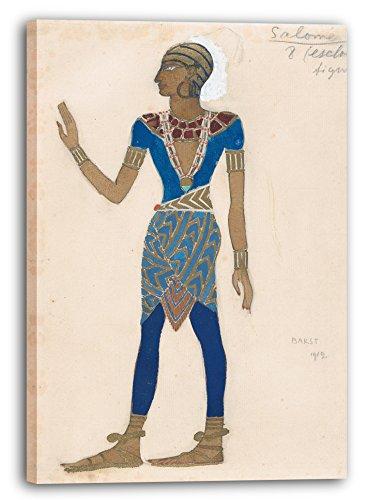 Printed Paintings Leinwand (70x100cm): Léon Bakst - Entwurf für Das Kostüm Eines Sklaven, für ()