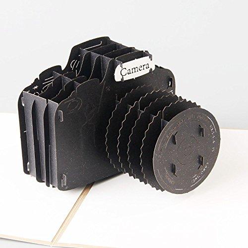 Kreatives 3D-Pop-Up-Buch von Uniqueplus mit ausklappbarer Kamera, eine Grußkarte für Geburtstag, Vatertag, Danksagung oder jeden Anlass