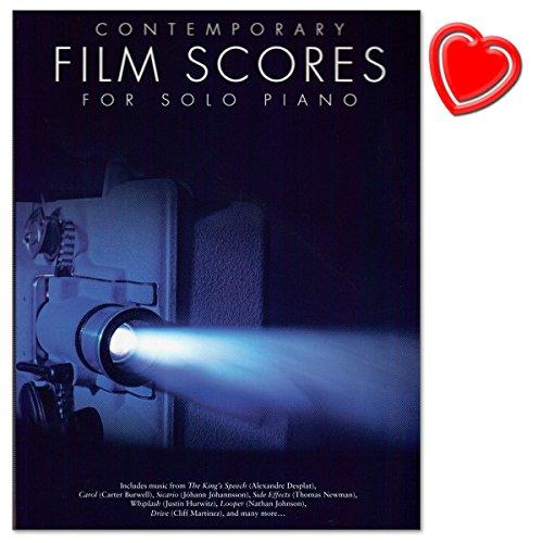 Contemporary Film Scores For Solo Piano - 25 Stücke aus Filmen zwischen 2005 bis 2016 - Notenbuch für Klavier mit bunter herzförmiger Notenklammer