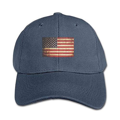 7ab1fdbc8278 errterfte USA Flag Pure Color Baseball Cap Cotton Kid Boys Girls Hat  Personalized Hat Comfortable Adjustable