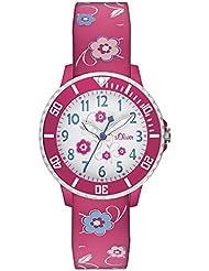 s.Oliver Mädchen-Armbanduhr Analog Quarz SO-2990-PQ