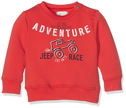 Sanetta Baby-Jungen Sweatshirt 113769, Rot (Red Apple 3955), 80